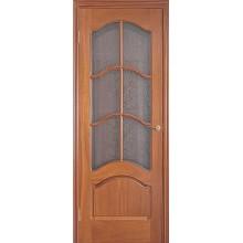 Межкомнатная дверь LUVISTIL 736 Sapely Красное дерево (под стекло)