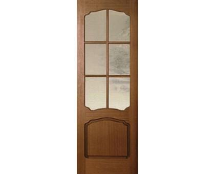 Межкомнатная дверь LUVISTIL 780 Sapely Красное дерево (под стекло)