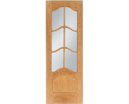 Межкомнатная дверь LUVISTIL 736 Roble Дуб мореный (под стекло)