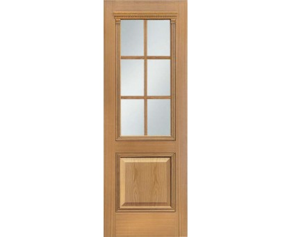 Шпонированная дверь Master Century дуб (под стекло)
