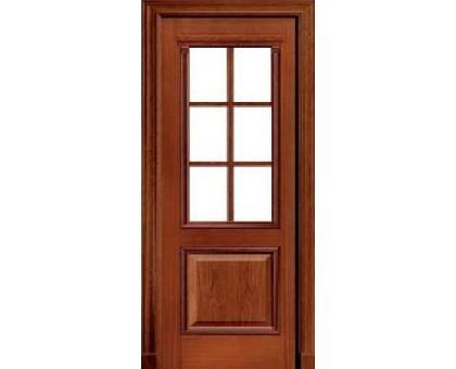 Шпонированная дверь Master Century Sapely Красное дерево (под стекло)