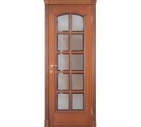 Межкомнатная дверь Master 595 Sapely, красное дерево (под стекло)