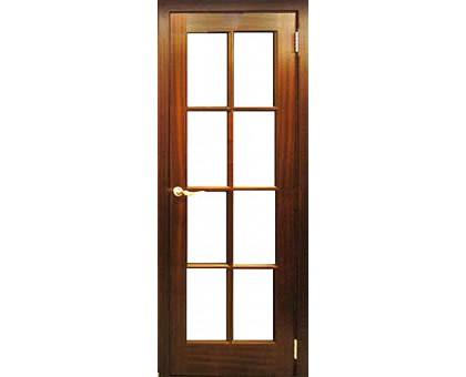 Шпонированная дверь Master AG 810 Sapely (под стекло)