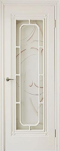белая межкомнатныя дверь со стеклом